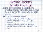 decision problems sensible encodings