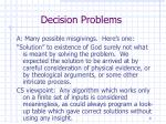 decision problems8