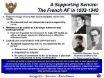 a supporting service the french af in 1933 1940