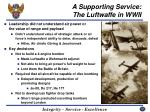 a supporting service the luftwaffe in wwii