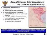 deconfliction vs interdependence the usaf in southeast asia