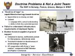 doctrine problems not a joint team the raf in norway france greece malaya in wwii