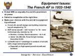 equipment issues the french af in 1933 1940
