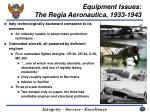 equipment issues the regia aeronautica 1933 1943