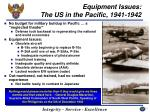 equipment issues the us in the pacific 1941 1942