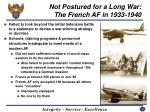 not postured for a long war the french af in 1933 1940