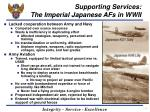 supporting services the imperial japanese afs in wwii