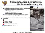 training pipelines infrastructure not postured for long war