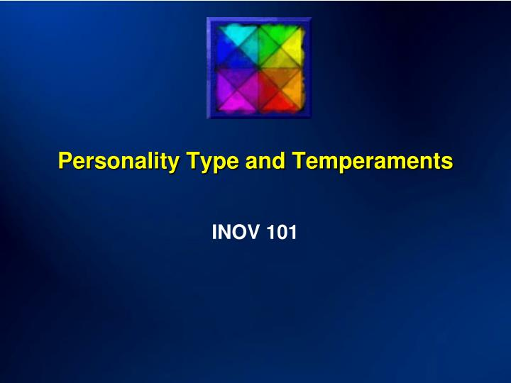 personality type and temperaments n.