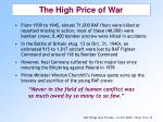 the high price of war