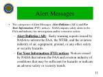 alert messages