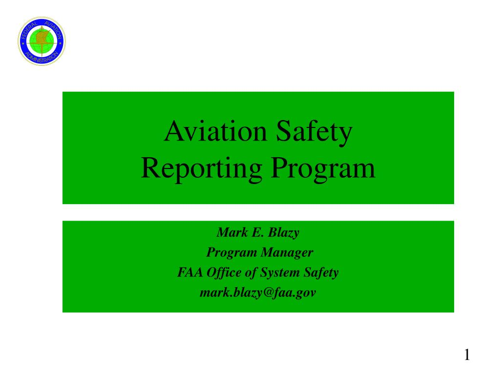 aviation safety reporting program l.