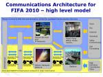 communications architecture for fifa 2010 high level model