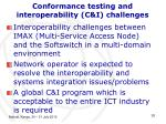 conformance testing and interoperability c i challenges10