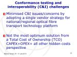 conformance testing and interoperability c i challenges13