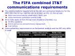 the fifa combined it t communications requirements