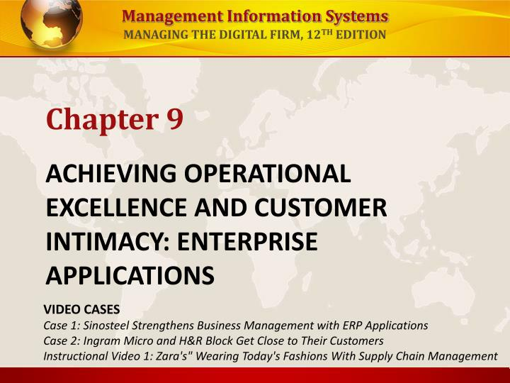 achieving operational excellence and customer intimacy enterprise applications n.
