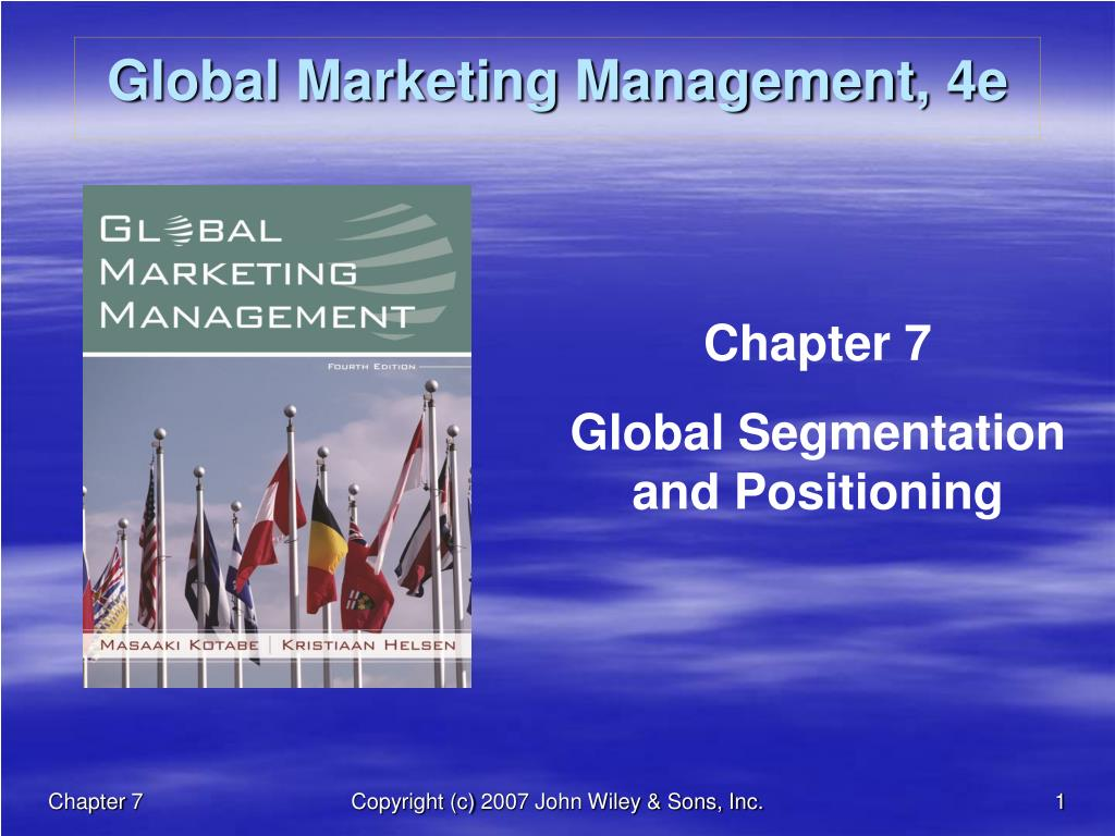 Ppt Global Marketing Management 4e Powerpoint Presentation Id