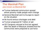 the marshall plan also known as marshall aid