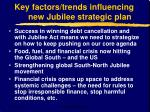 key factors trends influencing new jubilee strategic plan