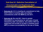 sub goal 1 definitive cancellation of unsustainable and illegitimate debt7