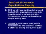 sub goal 3 increased organizational capacity