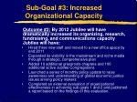 sub goal 3 increased organizational capacity12