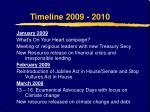 timeline 2009 2010