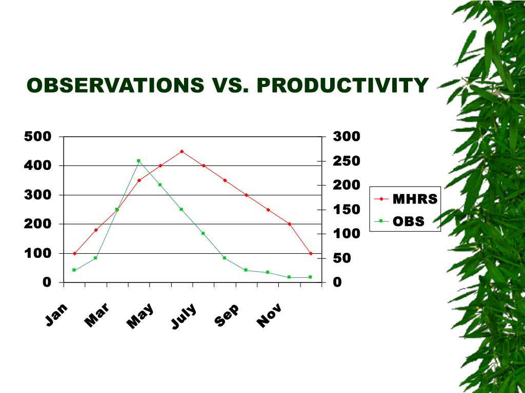 OBSERVATIONS VS. PRODUCTIVITY