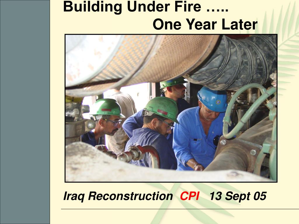 iraq reconstruction cpi 13 sept 05 l.