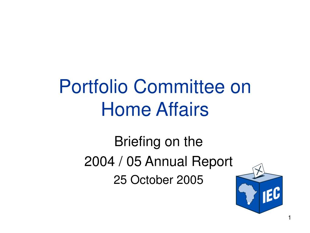 portfolio committee on home affairs l.