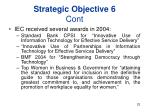 strategic objective 6 cont