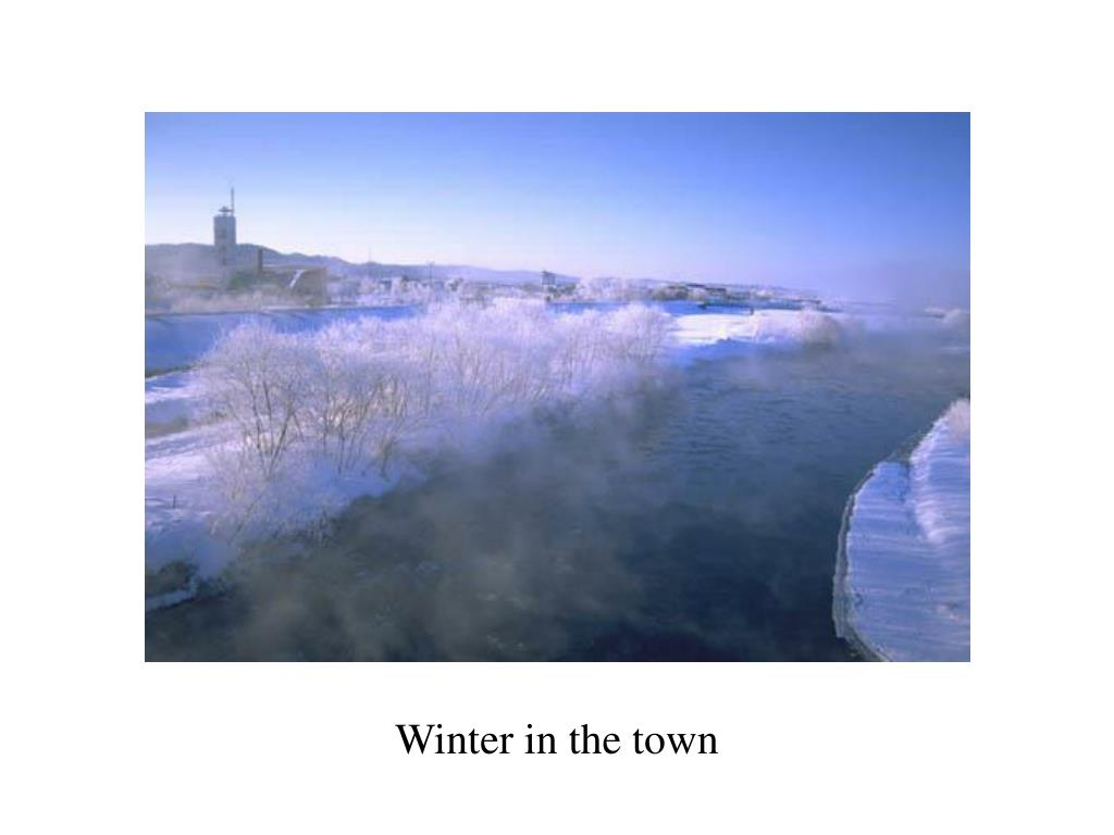 Winter in the town