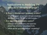 applications to modeling the effects of climatic change