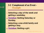 3 2 complement of an event example15