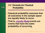 3 2 formula for classical probability