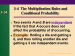 3 4 the multiplication rules and conditional probability