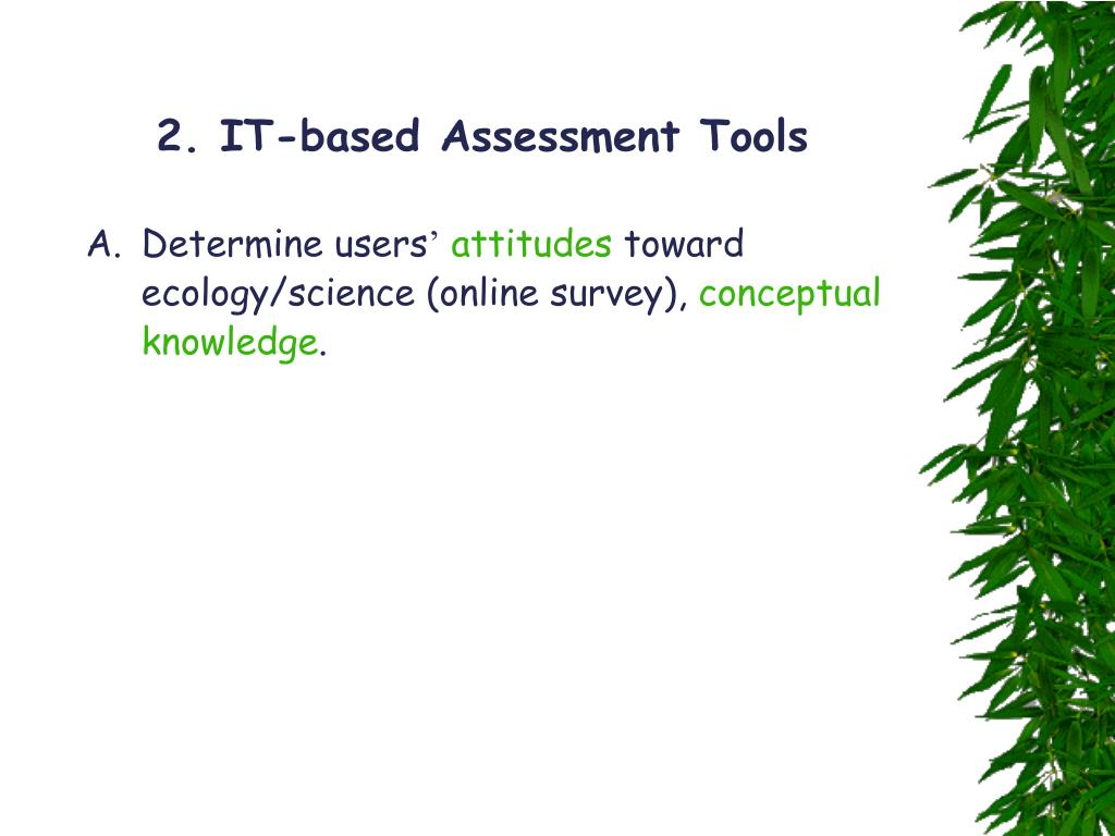 2. IT-based Assessment Tools