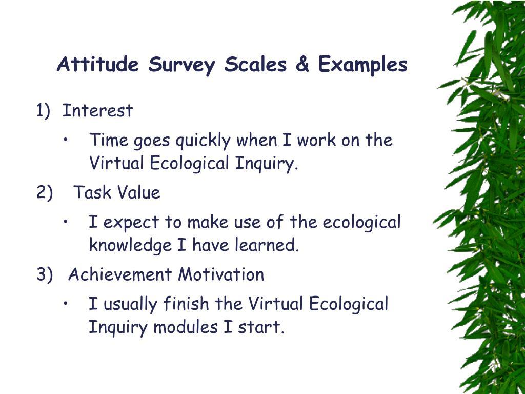 Attitude Survey Scales & Examples