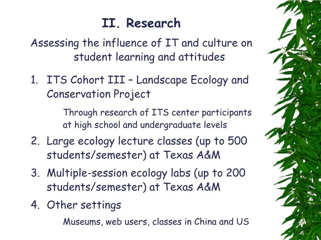 II. Research