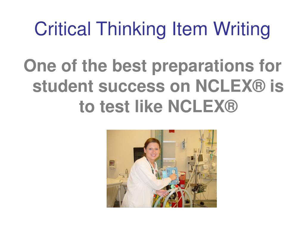 Critical Thinking Item Writing