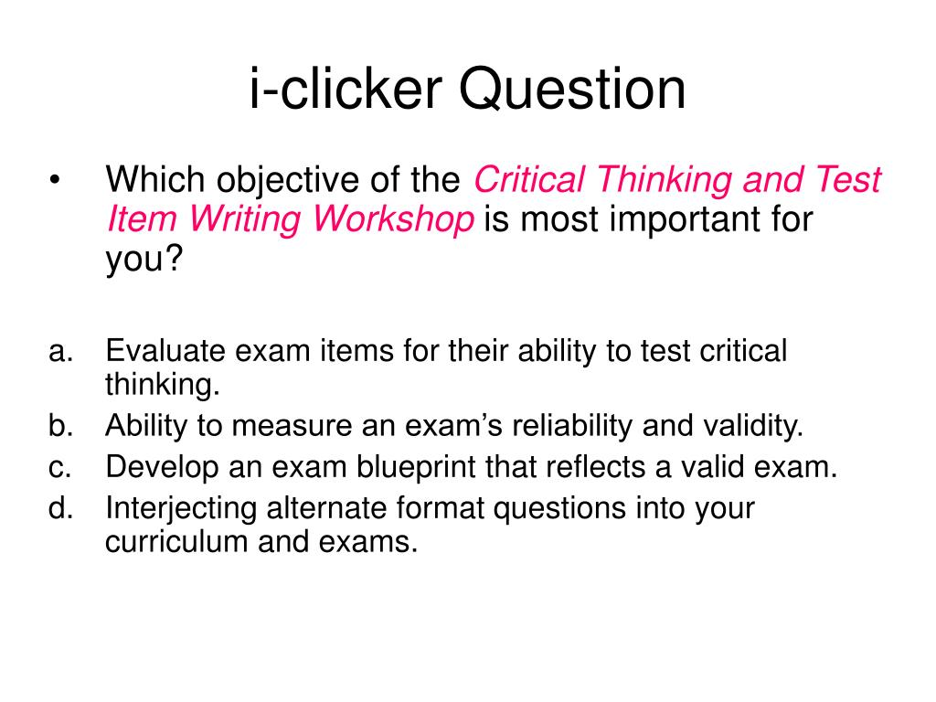i-clicker Question