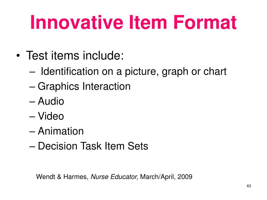 Innovative Item Format