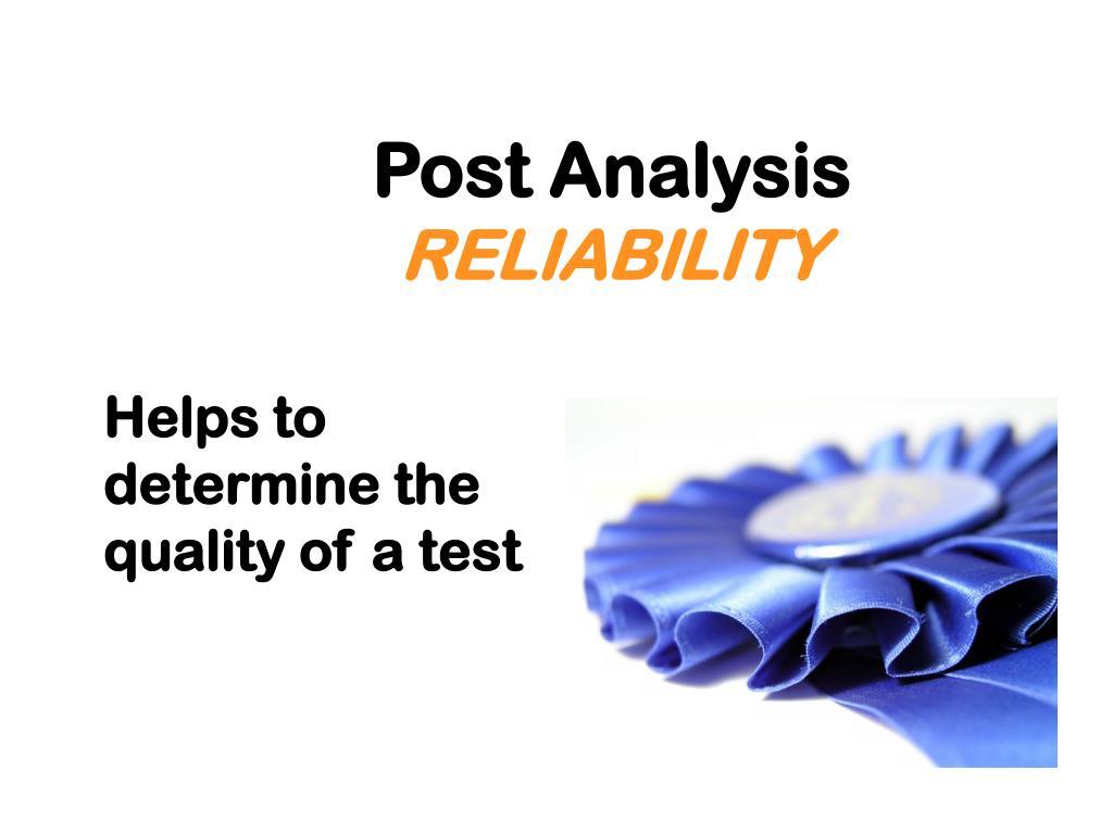 Post Analysis