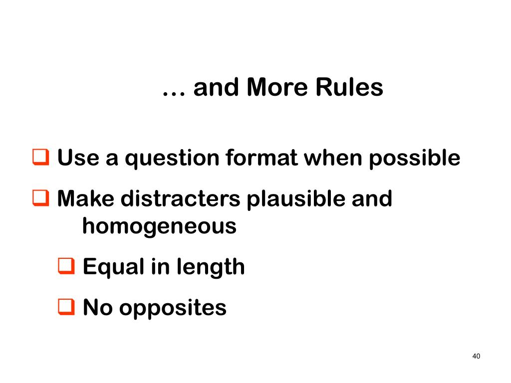 … and More Rules