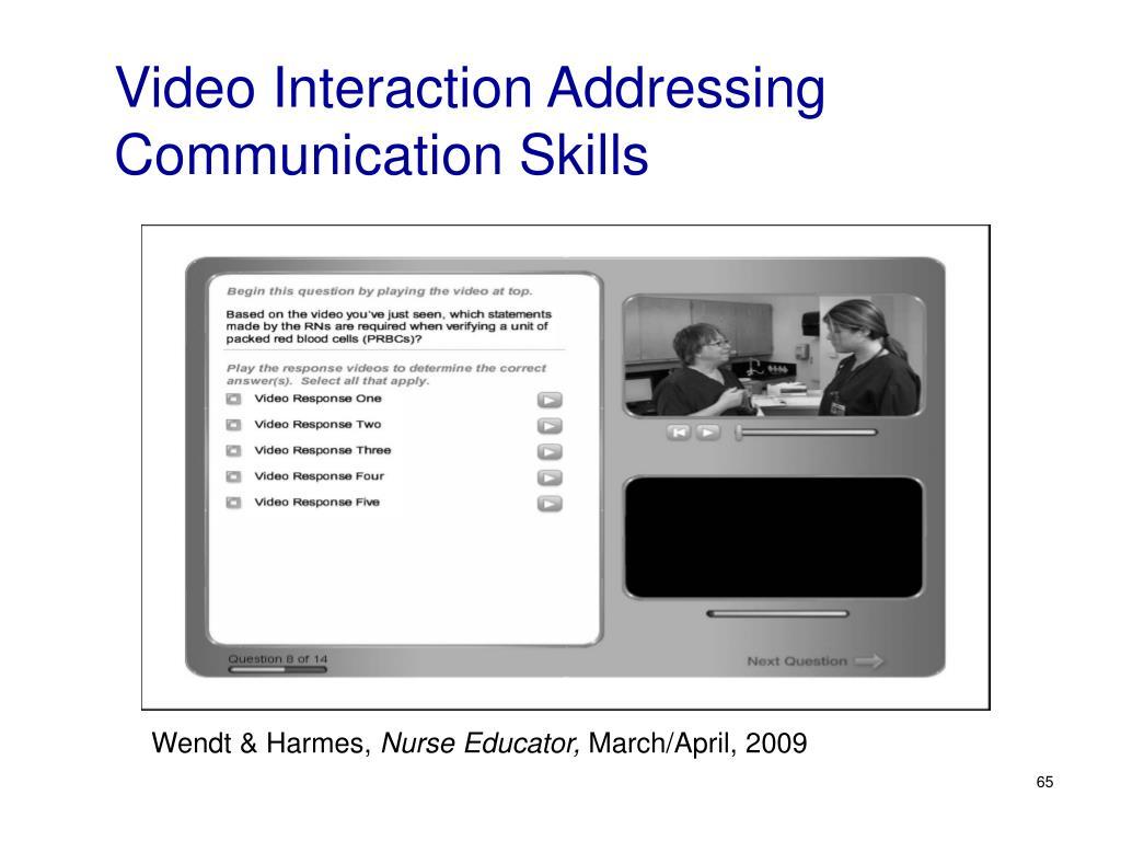 Video Interaction Addressing Communication Skills