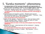 5 eureka moments phenomena