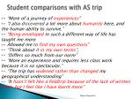 student comparisons with as trip