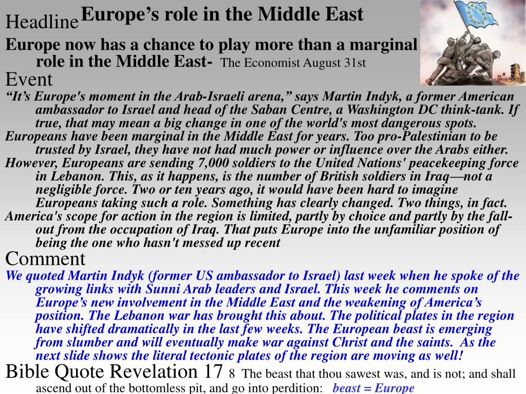 Europe's role in the Middle East