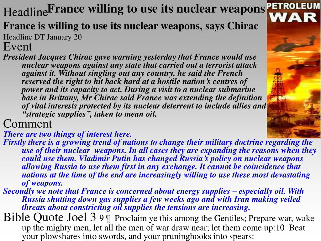 France willing to use its nuclear weapons